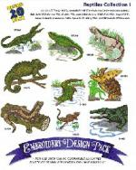 Amazing Designs 1166 Reptiles I Embroidery Disk