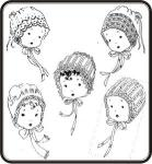 Old Fashion Baby Christening Bonnet Collection Pattern Jeannie Baumeister