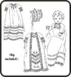 Old Fashion Baby Raglan Christening Gown Pattern By Jeannie Baumeister