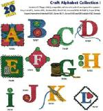 Great Notions 1185 Craft Alphabet I  Embroidery Multi Formatted CD