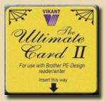 Vikant, Blank, Rewritable, 1 Megabyte, Embroidery Memory Card, in Brother .pes,  PED Basic