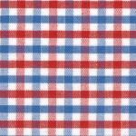 "Fabric Finders 15Yds x$9.34/Yd T13 Red White Blue Tri-Check 100% Pima Cotton 60"" Fabric"