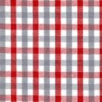 "Fabric Finders 15 Yd Bolt 9.34 A Yd  T18  White, Red, Gray Grey Gingham Plaid 100% Pima Cotton 60"" Fabric"