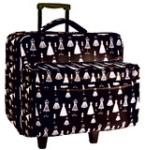 Brother SALFB1 Roller Trolley Case 16x14x12 + Embroidery Arm Tote Bag