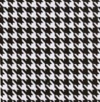 Fabric Finders 15 Yard Bolt 9.34 A Yd 752 100% Pima Cotton Fabric 60 inch Black Houndstooth Twill