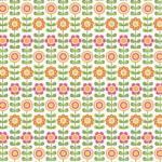 """Riley Blake Designs C7051W White Sum Flowers by My Minds Eye15Yd Bolt 7.34 A Yd 100%Cotton45""""Fabric"""