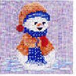 Sudberry House D1900 Five Snowmen Digitized Machine Cross Stitch Designs