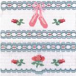 Ellen McCarn Ballet Slippers and Roses Smocking Plate Sewing Pattern