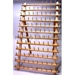 P60675 2Pack of Mega Wood Rack Stands with 120 Spool Pins , plus Legs, Holds 240 Spools of Threads