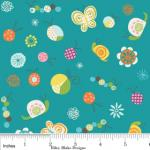 Riley Blake Designs 15Yd Bolt 7.34 A Yd  C5501 Blue Happier  Bugs