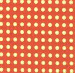 "Fabric Finders 15 Yd Bolt 9.34 A Yd FF1010 Green/White Dots on Paprika 100% Pima Cotton 60"" Fabric"