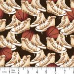 "Riley Blake Designs 15Yd Bolt 7.34 A Yd C2511 Brown PlayBall Sneakers 100% Cotton  45""Fabric"
