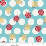 """Riley Blake Designs  15Yd Bolt 7.34 A Yd  C2521 Blue Sew Rose Dots100% Cotton  45""""Fabric"""