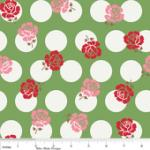 "Riley Blake Designs  15Yd Bolt 7.34 A Yd  C2521 Green Sew Rose Dots100% Cotton  45""Fabric"