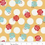 "Riley Blake Designs  15Yd Bolt 7.34 A Yd  C2521 Yellow Sew Rose Dots100% Cotton  45""Fabric"