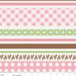 "Riley Blake Designs  15Yd Bolt 7.34 A Yd  C2523 Pink Sew Stripes 100% Cotton  45""Fabric"