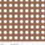 """Riley Blake Designs 15Yd Bolt 7.34 A Yd  C2524 Brown Sew Dots100% Cotton  45""""Fabric"""