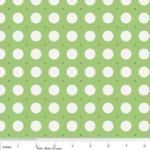 """Riley Blake Designs 15Yd Bolt 7.34 A Yd  C2524 Green Sew Dots100% Cotton  45""""Fabric"""