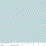 """Riley Blake Designs 15Yd Bolt 7.34 A Yd C2527 Blue Sew Leaves 100% Cotton  45""""Fabric"""