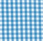 Fabric Finders 15 Yd Bolt 9.34 A Yd Turquoise 1/4 in.  Gingham Check 100% Pima Cotton Fabric