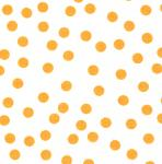 Fabric Finders 15 Yard Bolt 9.34 A Yd  White With Gold Dots Twill 100%Cotton60inch