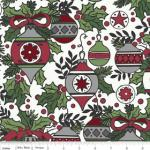 "Riley Blake Designs 15Yd Bolt 7.34 A Yd C2590 Green Holly Jolly  Main 100% Cotton  45""Fabric"