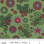 "Riley Blake Designs 15Yd Bolt 7.34 A Yd C2591 Green Holly Jolly  Berries 100% Cotton  45""Fabric"
