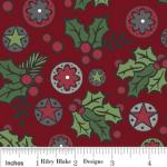 "Riley Blake Designs 15Yd Bolt 7.34 A Yd C2591 Red Holly Jolly  Berries 100% Cotton  45""Fabric"