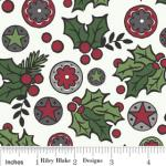 "Riley Blake Designs 15Yd Bolt 7.34 A Yd C2591 White Holly Jolly  Berries 100% Cotton  45""Fabric"