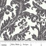 "Riley Blake Designs 15Yd Bolt 7.34 A Yd C2592 Gray Holly Jolly  Damask 100% Cotton  45""Fabric"