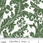 """Riley Blake Designs C2592 Green Holly Jolly  Damask 15Yd Bolt 7.34 A Yd  100% Cotton  45""""Fabric"""