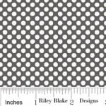 "Riley Blake Designs 15Yd Bolt 7.34 A Yd C2596 Gray Holly Jolly Dots 100% Cotton  45""Fabric"
