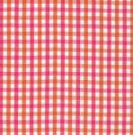 Fabric, Finders, T85, Orange, Raspberry, Check, 15, Yard, Bolt, 9.34, A, 100%, Pima, Cotton