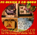 Loes Van Der Heijden PE Design/Palette 5.0 CD book for Brother or Babylock - FREE Thread Color Convertion Software & DIME