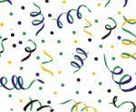 Fabric Finder FF1093 Mardi Gras Confetti on WhitePrint 15 Yd Bolt 9.34 A Yd 100% Pima Cotton Fabric