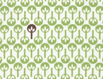 Fabric Finders  #1254 Green/Brown Trees Print 15 Yd Bolt 9.34 A Yd100% Cotton 60""