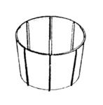 Douglas D-63516 Filter, Felt W/ Plastic  Cage 7005/7007 White
