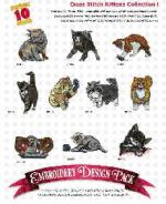 Amazing Designs 2036 Cross Stitch Kittens I Embroidery Disk
