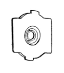 Panasonic P-20535 End Cap, Non-Pulley End 5200/6200/6800 Wooden B/Rnohtin