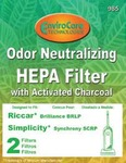 Riccar/Simplicity Replacment Rsr-1808 Filter, Brilliance Synchrony Charcoal Hepa 2Pk