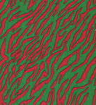 Fabric Finder 1276 Zebra Print Red And Kelly Green 15 Yd Bolt 9.34 A Yd 100% Pima Cotton Fabric