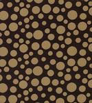 Fabric Finders FF1298 Bronze Dots on Black Print 15 Yd Bolt 9.34 A Yd 100% Cotton 60""