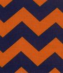 Fabric Finders 15 Yd Bolt 9.33 A Yd Twill 1305 Orange/Blue Chevron 100% Pima Cotton Fabric 60 inch