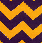 Fabric Finders 15 Yd Bolt 9.33 A Yd Twill 1306 Purple/Gold Chevron 100% Pima Cotton Fabric 60 inch