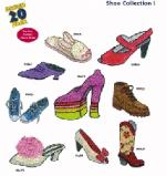 Amazing Designs 1241 Shoes I Embroidery Disk