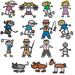 Dakota Collectibles 970546 Stick Figures Multi-Formatted CD Embroidery Machine Designs