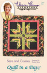 Quilt in a Day by Eleanor Burns Stars & Crosses Quilt Pattern Sewing Pattern