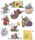 Amazing Designs 1254 Nice Mice I Embroidery Disk