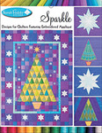 Sarah, Vedeler, Sparkle, Christmas, Tree, Snow, flakes, Embroidery, Designs, CD