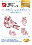 Great Notions Inspiration Collection Elegant Wisdom Multiformat Embroidery Design CD